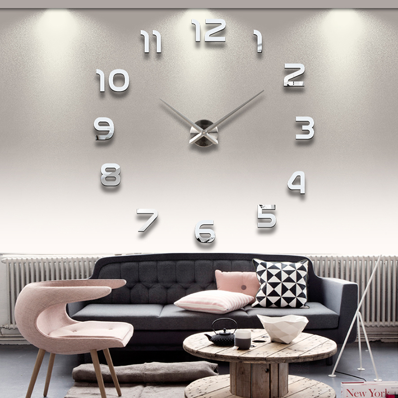 Wanduhr 100 - 130 cm 3 D XXL Uhr Selbst gestaltbare Do-it-yourself Design 8