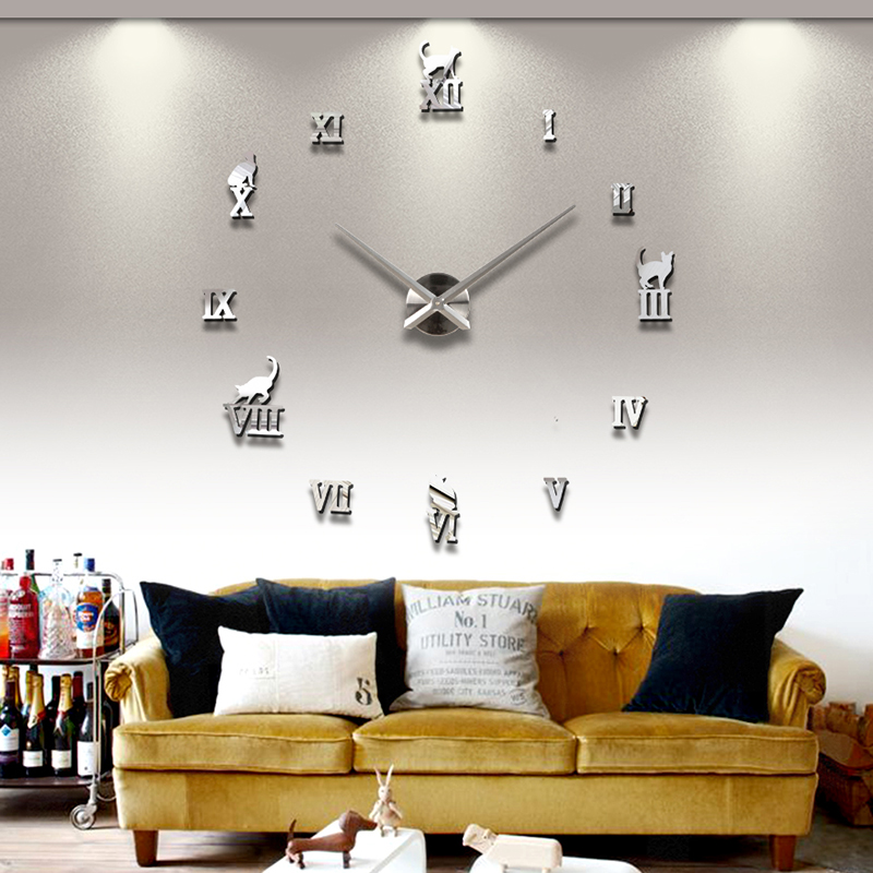 Wanduhr 100 - 130 cm 3 D XXL Uhr Selbst gestaltbare Do-it-yourself Design 11