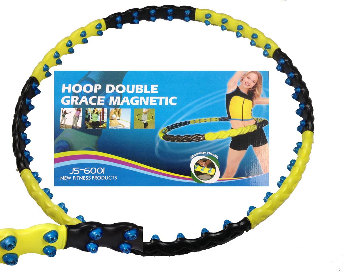 Hula Hoop Massage Reifen 1,7 kg Magneten leicht abnemmen Bauchweg 6001