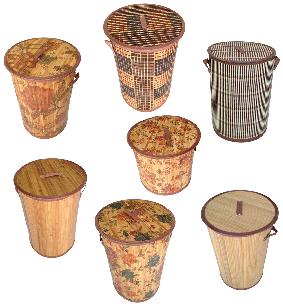 Bambus Wäschekorb Aufbewahrungsbox Wäschetruhe Wäschebox Wäschesammler KorbLN42