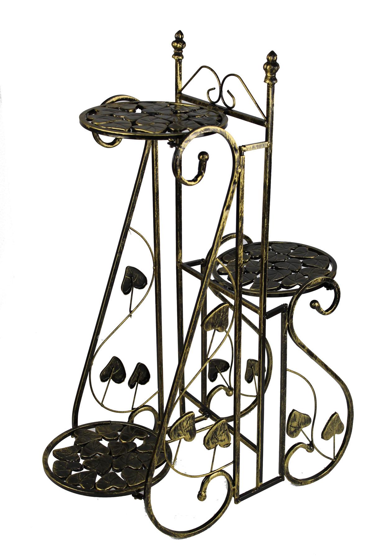 Blumentreppe Blumenampel Eisen Metall Blumenständer Regal Antik  Hocker LN172