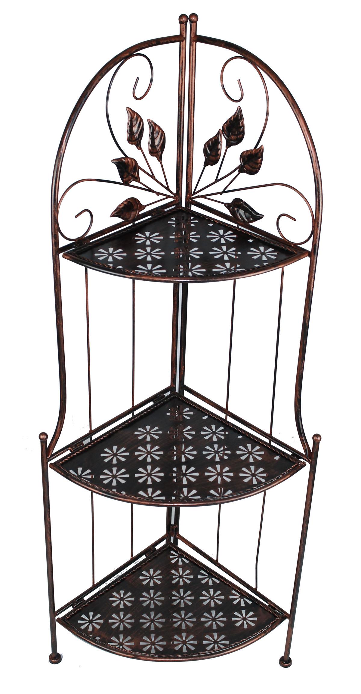 blumentreppe eckregal metall standregal eisenregal blumenst nder regal ln173 ebay. Black Bedroom Furniture Sets. Home Design Ideas