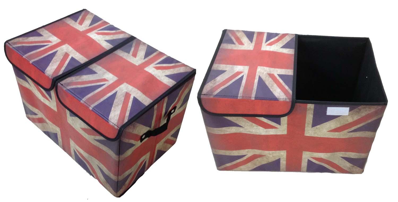 Aufbewahrungsbox mit Deckel gepolstert  England London Kiste Organizer