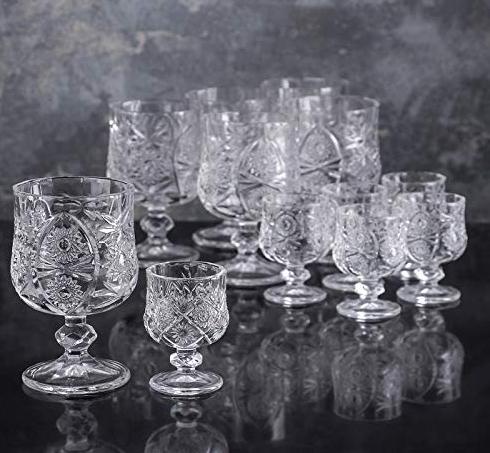 12 Teile Set Weinglas Glas Schnapsglas Vodkaglas Longdrinkglas Trinkglas