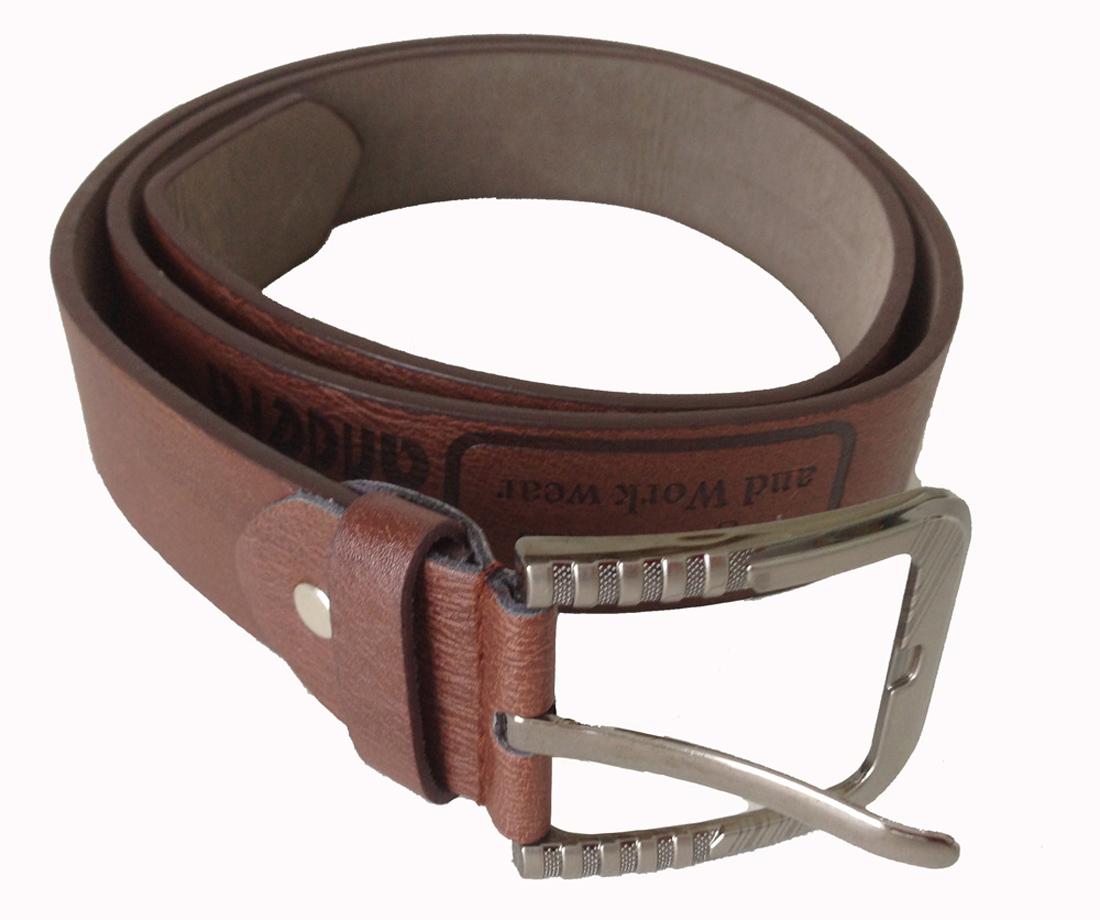 Gürtel Echt Leder Herren Damen Ledergürtel Jeansgürtel Belt 3,5 mm braun 120 cm