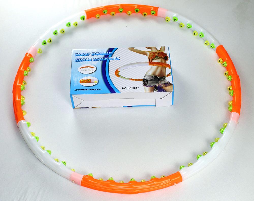 Hula Hoop Massage Reifen 1,2 kg  Magneten leicht abnemmen Bauchweg 6017