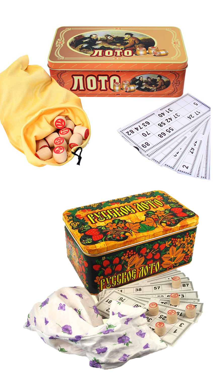 Bingospiel Lottospiel  Bingo Russische Lotto Klassischer Lotto Loto Metalldose