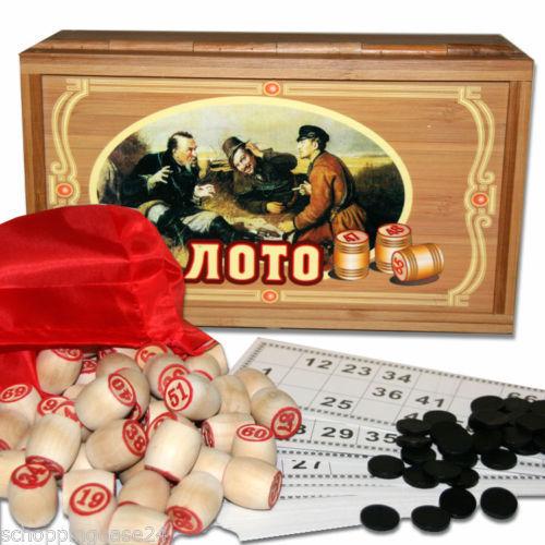 Bingospiel Lottospiel  Bingo Russische Lotto Klassischer Lotto Loto Holzkiste