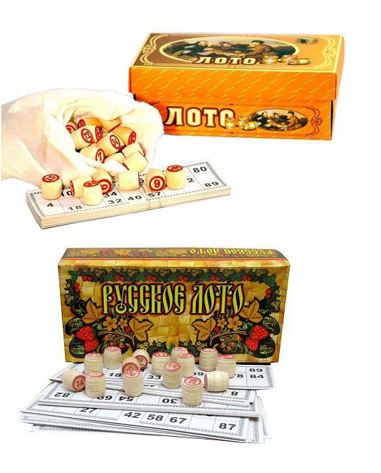 Bingospiel Lottospiel  Bingo Russische Lotto Klassischer Lotto Loto in Karton